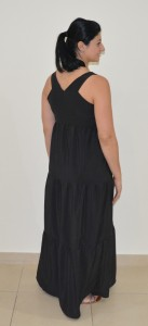 Black tiered maxi back