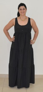 Black tiered maxi front 2