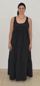 Black tiered maxi front 3