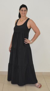 Black tiered maxi side 2
